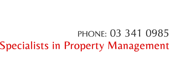 PHONE: 03 341 0985 - Specialists in Property Management